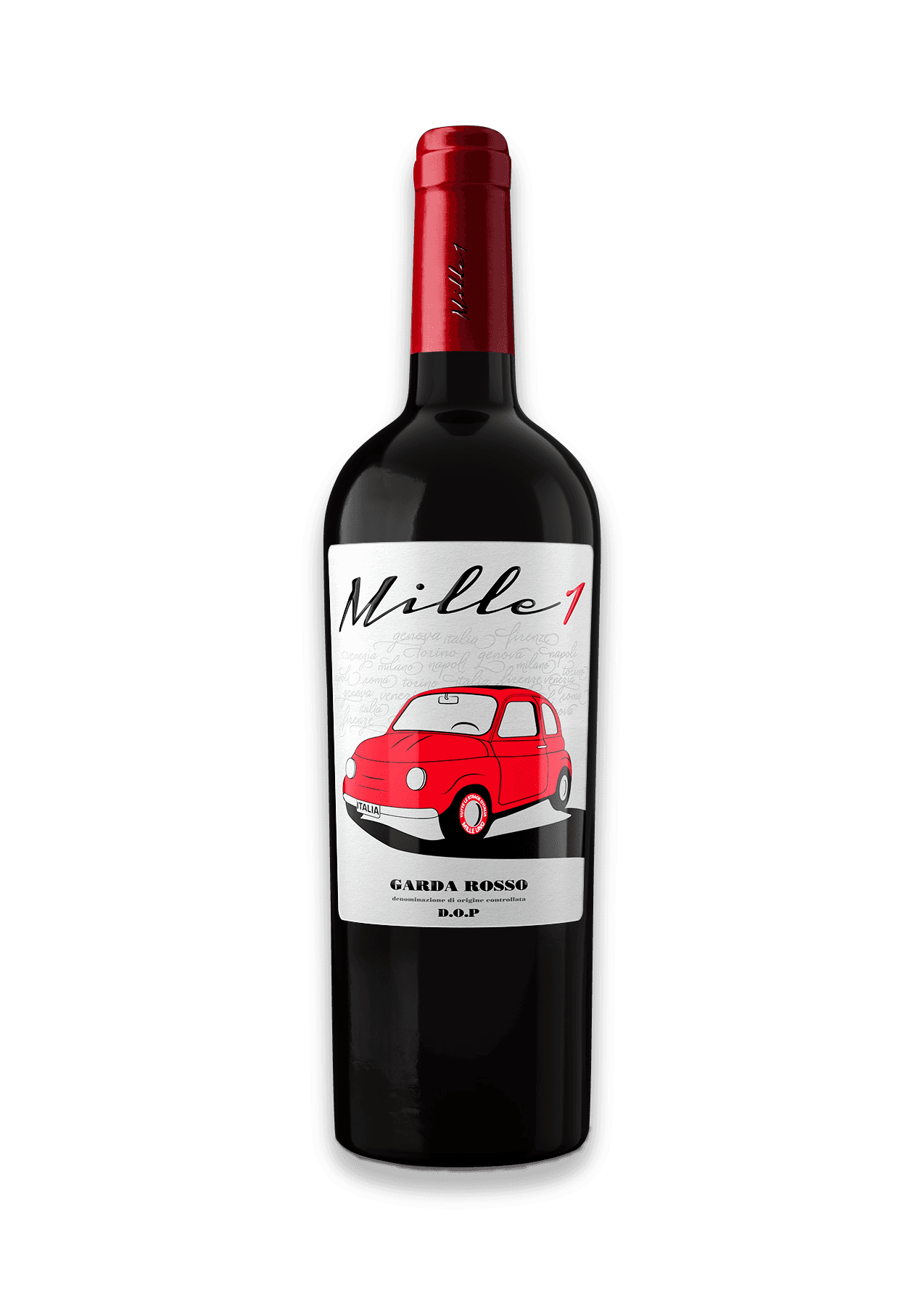 Mille1 Italian red wine bottle